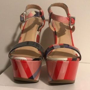 Red White and Blue Wedges